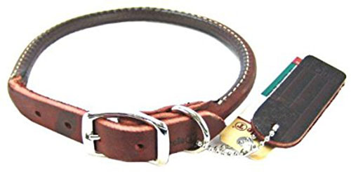 3. Coastal Pet Latigo Leather Round Collar