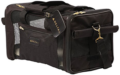 1. Sherpa Deluxe Pet Carriers, Delta black