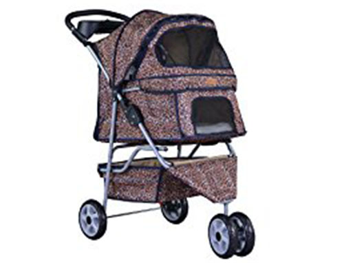 7. BestPet All Terrain Extra Wide 3 Wheels Pet Dog Cat Stroller