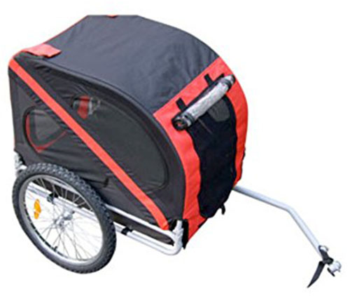 1. Aosom Elite Pet Bike Trailer