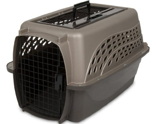 3. Petmate Two Door Top Load Kennel, Metallic Pearl Tan