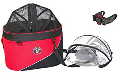 4. DoggyRide Cocoon Bike Basket for Pets