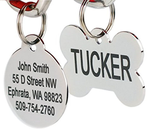 3. Go tags Stainless Steel Pet Id Tags, regular