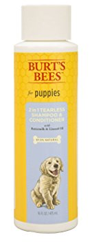 7. Burts Bees Puppy Tearless 2 in1 Shampoo