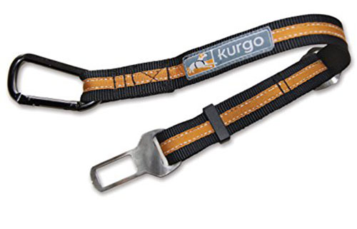 4. Kurgo Direct to Seatbelt Tether Car Restraint for Dogs