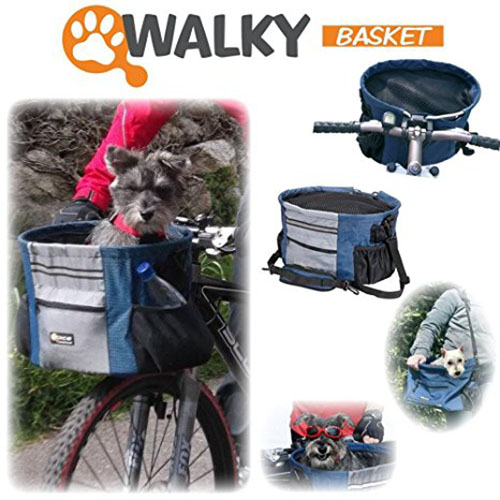 3. Walky Basket Pet Dog Bike Basket Carrier