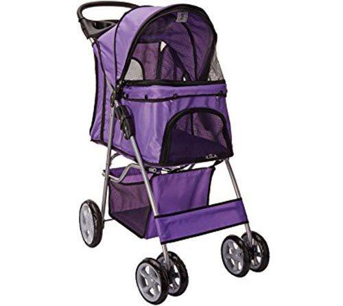 9. OxGord Paws & Pals City Walk N Stride 4 Wheeler Pet Stroller