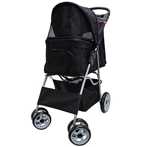5. VIVO Four Wheel Pet Stroller,