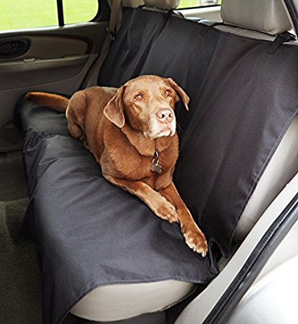 1. AmazonBasics Waterproof Car Bench Seat Cover
