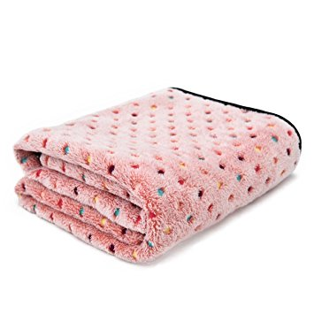 10. PAWZ Road Pet Dog Blanket, pink, medium