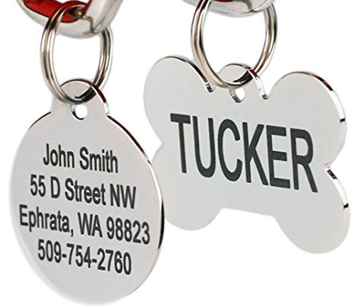 6. Go tags Stainless Steel Pet Id Tags, round