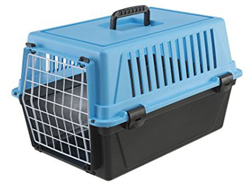 4. Ferplast Atlas 10 Cat and Dog Carrier, Blue