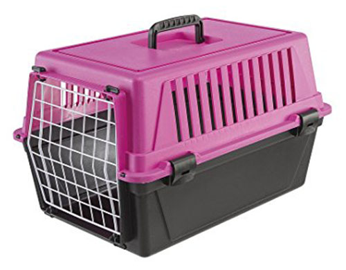 6. Ferplast Atlas 10 Cat and Dog Carrier, Fuchsia Pink