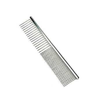 5. Pettom Pet Stainless Steel Grooming Tool Poodle Finishing Butter Comb