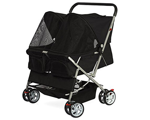 6. OxGord Double Pet Stroller for Cats, Dogs and Other Household Animals