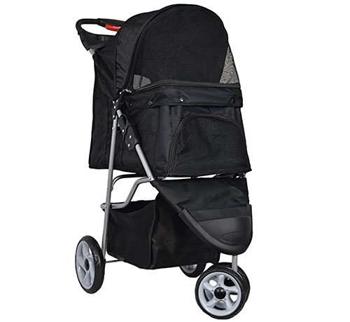 2. VIVO Three Wheel Pet Stroller,