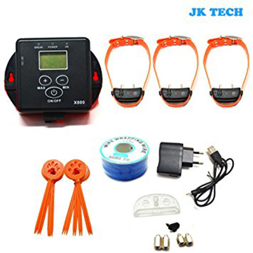 7. JK TECH Small Medium Large Dog Rechargeable Pet Fence System