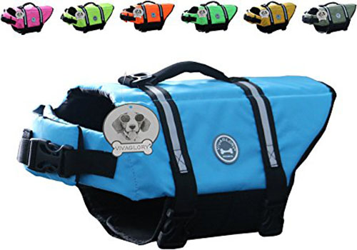 9. Vivaglory Dog Life Jacket