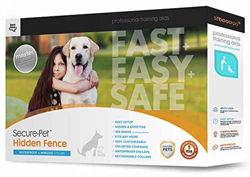 4. Hidden Dog Fence by Sit Boo-Boo, Safe & Easy In-Ground or Above-Ground Installation
