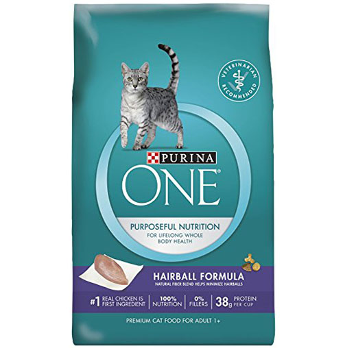 1. Purina ONE Hairball Formula Adult Premium Cat Food