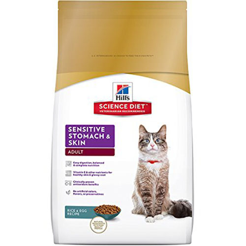 4. Hill's Science Diet Sensitive-Dry Cat Food