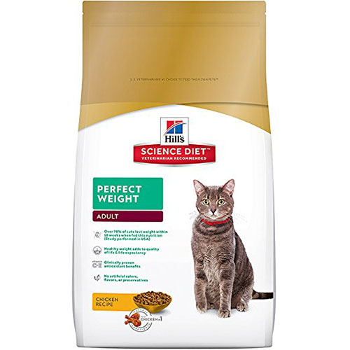 2. Hill's Science Diet Perfect Weight Dry Cat Food
