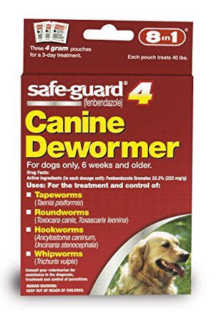 1. Excel 8in1 Safe Guard Canine Dewormer
