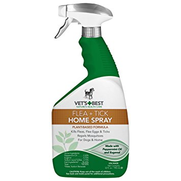 1. Vet's Best Natural Flea and Tick Home Spray,