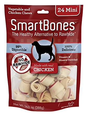 1. SmartBones Chicken Dog Chew
