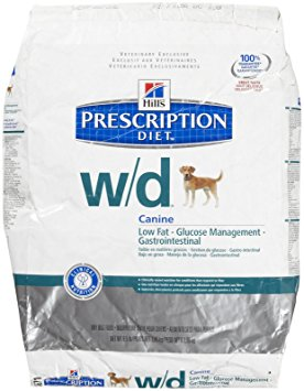 2. Hill's Prescription Diet w/d Low Fat - Diabetic - Gastrointestinal Dry Dog Food