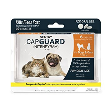 2. SENTRY Capguard (nitenpyram) Oral Flea Tablets
