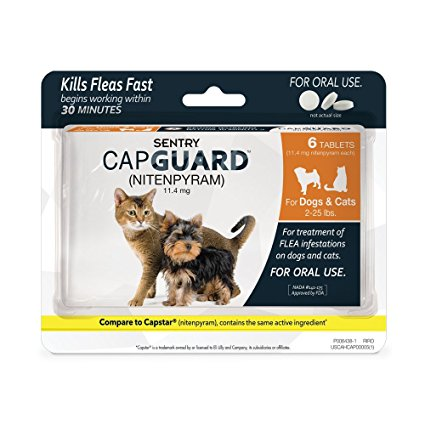 5. SENTRY Capguard (nitenpyram) Oral Flea Treatment Medication