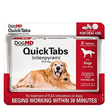 8. Dog MD Maximum Defense QuickTabs Flea Treatment