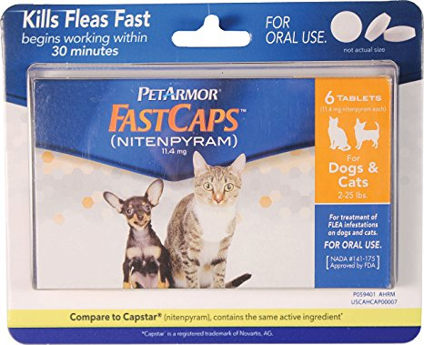 3. PetArmor FastCaps (nitenpyram) Oral Flea Treatment Medication,