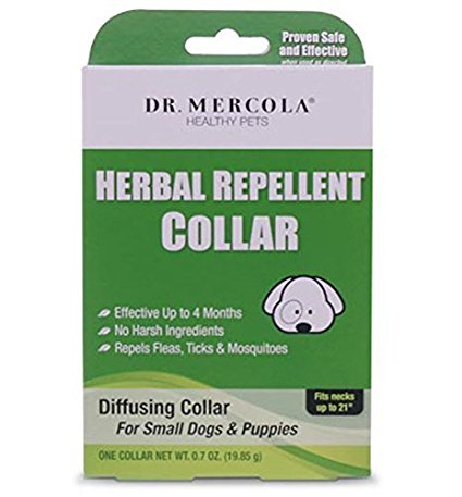 10. Dr. Mercola Herbal Repellent Collar