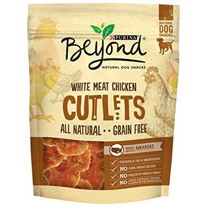 5. Purina Beyond Natural Grain Free White Meat Chicken Cutlets Dog Snacks