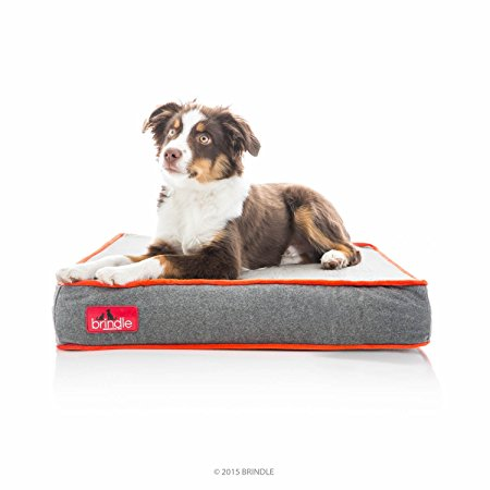 5. BRINDLE Waterproof Designer Memory Foam Pet Bed