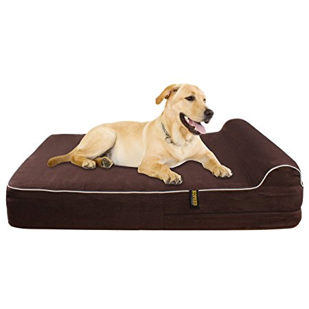 9. KOPEKS Orthopedic Memory Foam Dog Bed