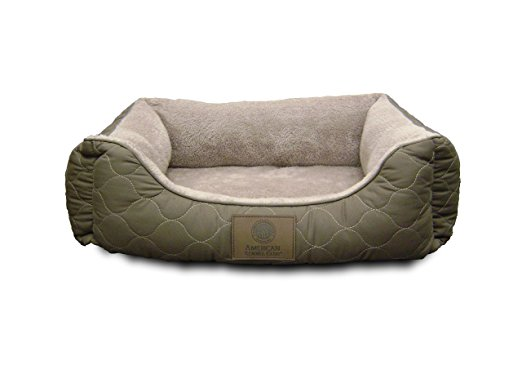 8. American Kennel Club Orthopedic Circle Stitch Cuddler Pet Bed, Gray