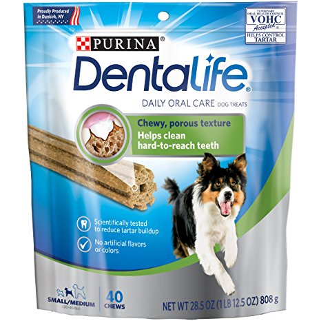 7. Purina DentaLife Daily Oral Care Small/Medium Dog Treats