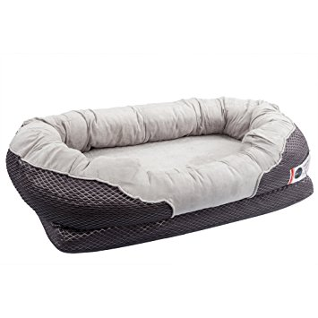 6. BarksBar Gray Orthopedic Dog Bed