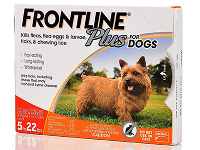 5. Frontline Plus Flea and Tick Control, 3-Doses