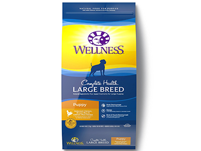 8. Wellness Complete Health Natural Dry Large Breed Puppy Food