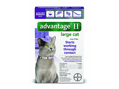1. Bayer Advantage II/ Flea Control Treatment