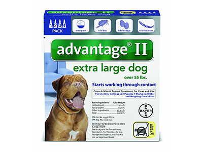 9. Bayer Advantage II Topical Flea Treatment Dogs